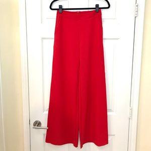 Chic High Waist Red Pants!